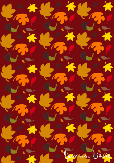 Autumn leaves pattern Lemon Lizzie