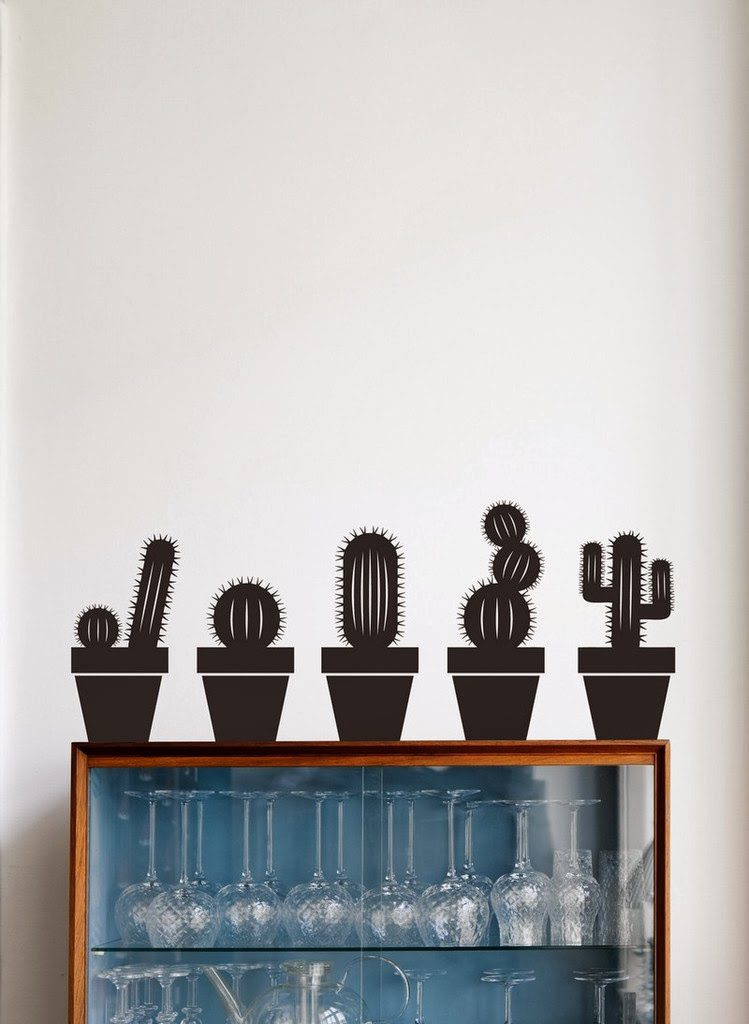 ferm living cactus wall stickers via designlovefest